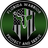 "5"" FLORIDA WARRIOR GREENLINE PLAQUE"