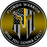 "5"" FLORIDA WARRIOR YELLOW LINE DISPATCH DISPATCH"