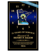 CUSTOM 10X16 RECOGNITION AWARD CLOCK