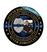 """This is a Custom Memorial Plaque! A """"stunning"""" Wood & Acrylic Wall Plaque that really stands out and makes you stop and appreciate it.  Any Patch, Badge, Seal, Logo, Challenge Coin or any Artwork of your choice can be added with Free Setup and Free Shipping.  This is a perfect gift for any Law Enforcement Agency, Government Agency, Military Department, Fire Department, Emergency Service or Organization."""