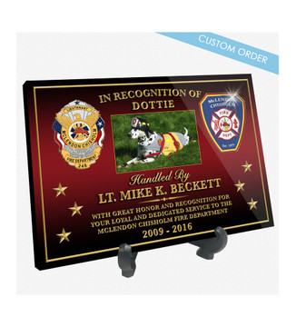 K9 RECOGNITION DESK PLAQUE (3 MULTI)