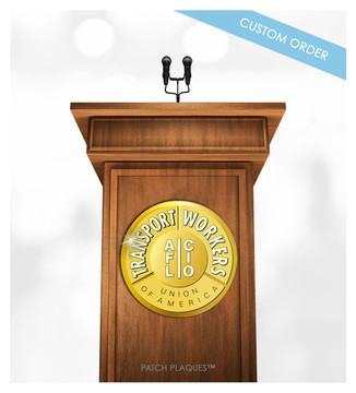 Custom Podium and Lectern Badge Plaque for Corporation, Organization, Business.