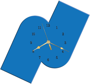 CUSTOM SHAPE CLOCK