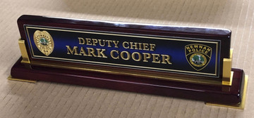 Rosewood Vertical Name Plate