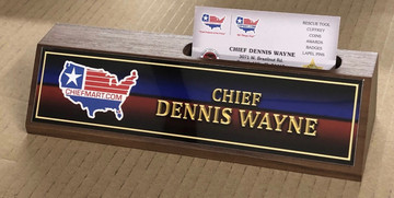 Walnut Business Card Holder  Name Plate