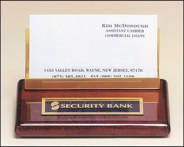 Rosewood Business Card Holder