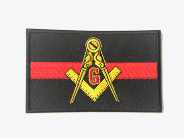 Masonic Thin Blue/Red Line Patch