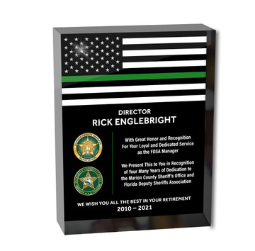 ACRYLIC BLOCK THIN LINE - RECOGNITION