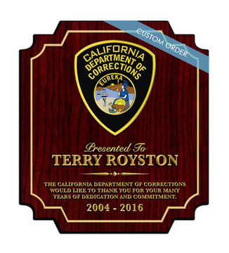 CUSTOM RECOGNITION PLAQUE (S-1) - PERSONALIZED