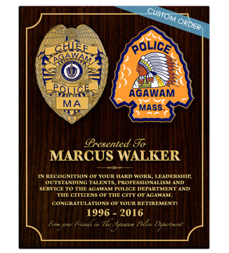 CUSTOM RECOGNITION PLAQUE (BBX2) COLLAGE - PERSONALIZED