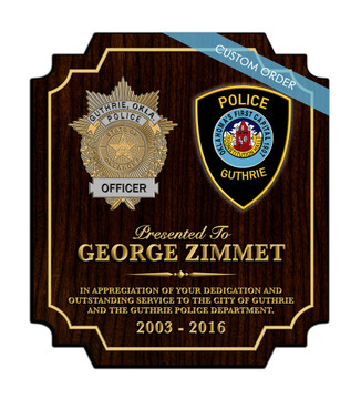 CUSTOM RECOGNITION PLAQUE (S2) COLLAGE - PERSONALIZED