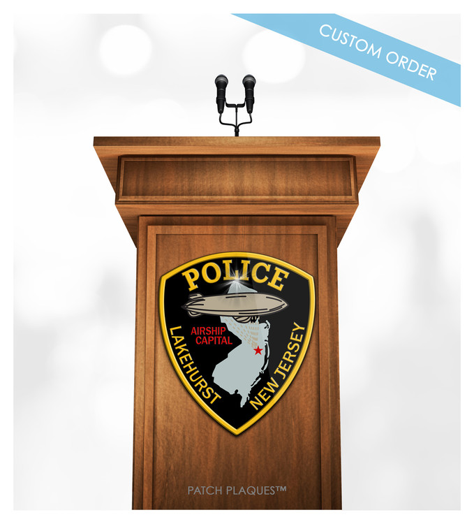 Custom Podium Plaque for Police, Law Enforcement and Sheriffs Departments.