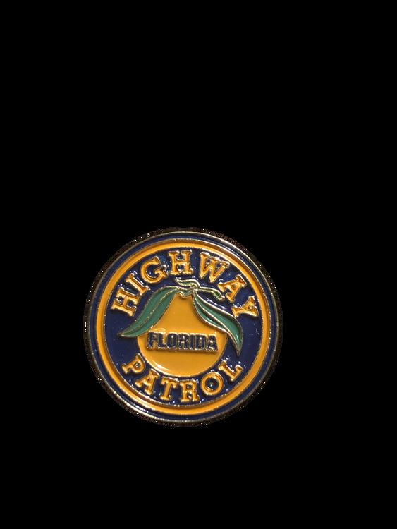 Awesome full color FLORIDA HIGHWAY PATROL enamel logo