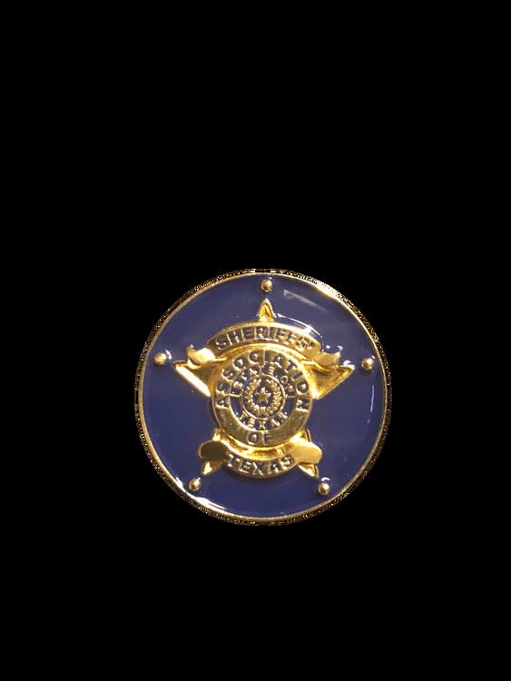 Awesome FULL COLOR Sheriffs of Texas enamel logo