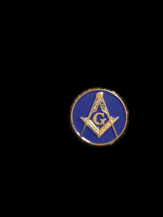 Awesome FULL COLOR Masonic enamel logo