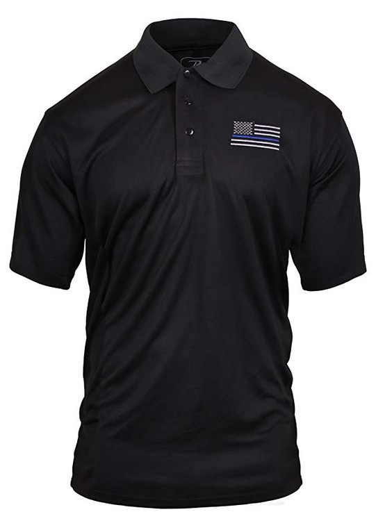 Back the Blue in this Blue Line Polo