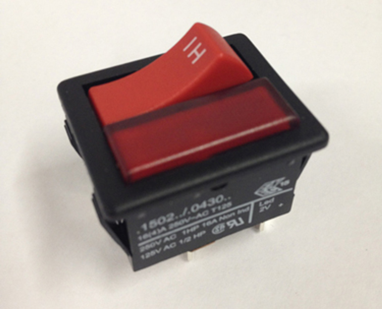 HENRY/HETTY RED MOMENTARY ROCKER SWITCH