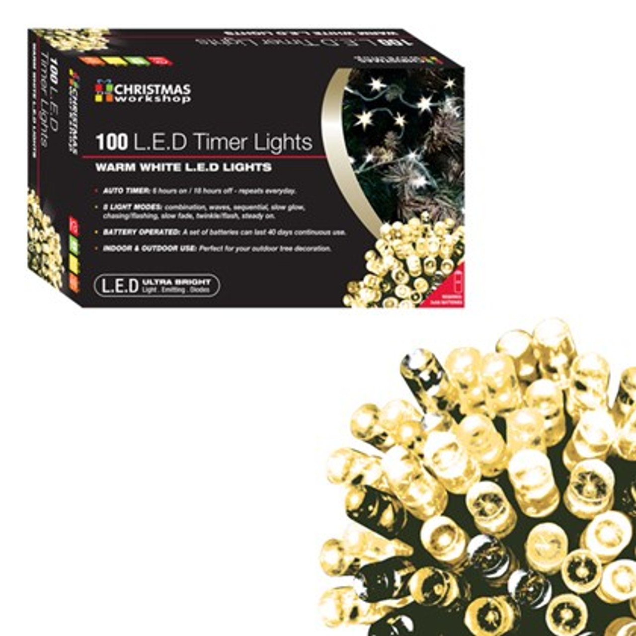 100 battery operated christmas lights