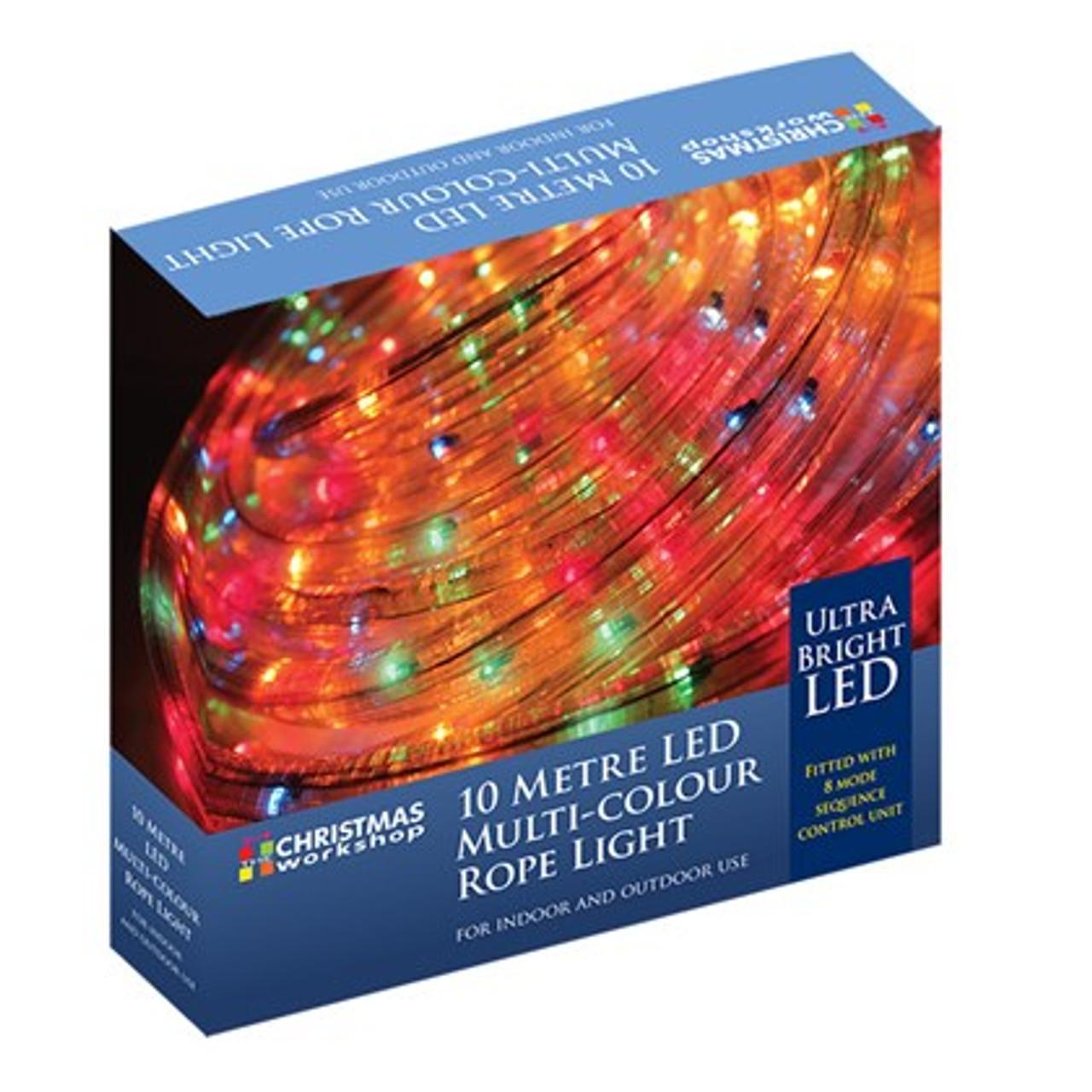 10M LED Multi-Coloured Rope Light