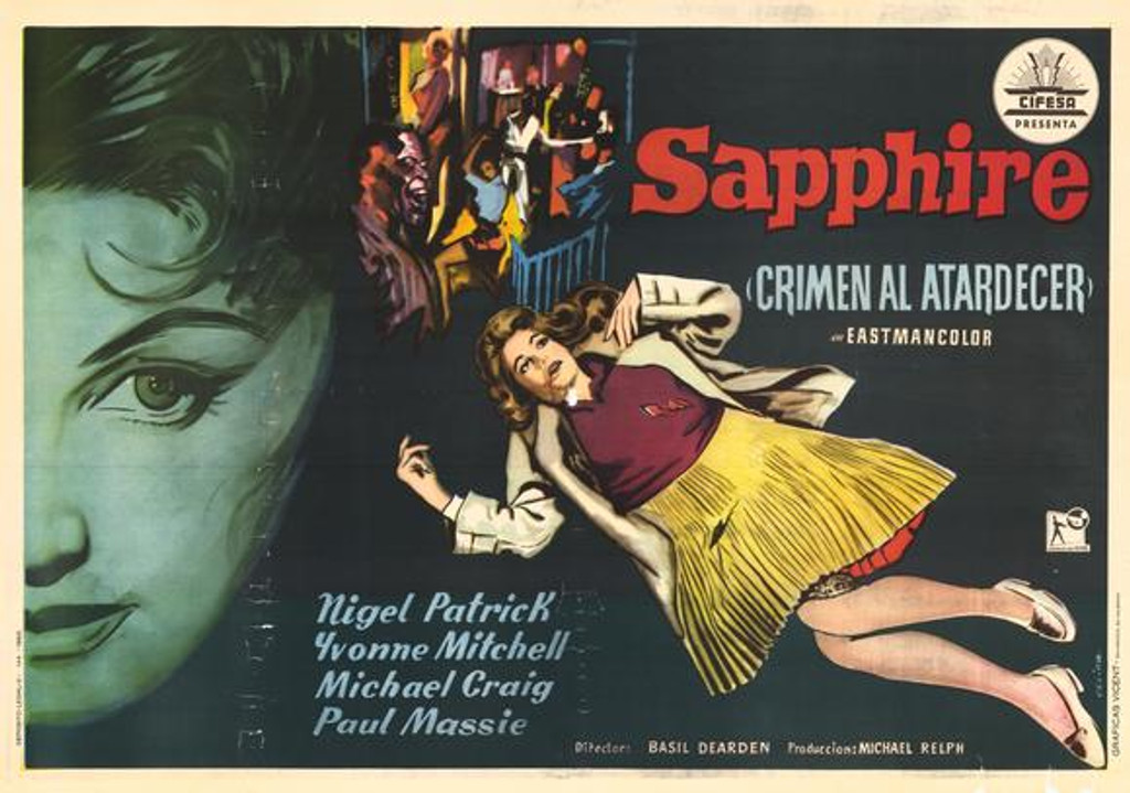 """Who Killed Sapphire? Rare and forgotten Murder Mystery of a """"mixed"""" black woman """"passing"""" for white in 1950s UK. Available on DVD starring Nigel Patrick"""