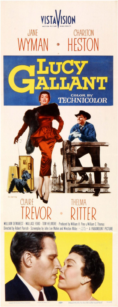 Starring Jane Wyman and Charlton Heston