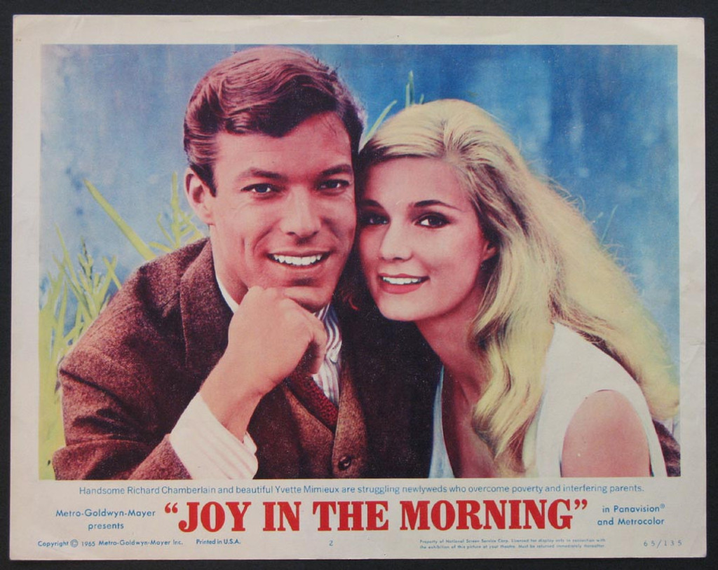joy in the morning movie 1965, Law student Carl Brown (Richard Chamberlain) decides to marry the love of his life, Annie McGairy (Yvette Mimieux), despite the vigorous protests of his father, Patrick (Arthur Kennedy). Cut off from the parental coffers, Carl and Annie struggle in the early years of their marriage. To stay financially afloat, Annie babysits and Carl works as a night watchman. But when Annie becomes pregnant, it sends their lives into disarray -- prompting a climactic reunion of father and son.
