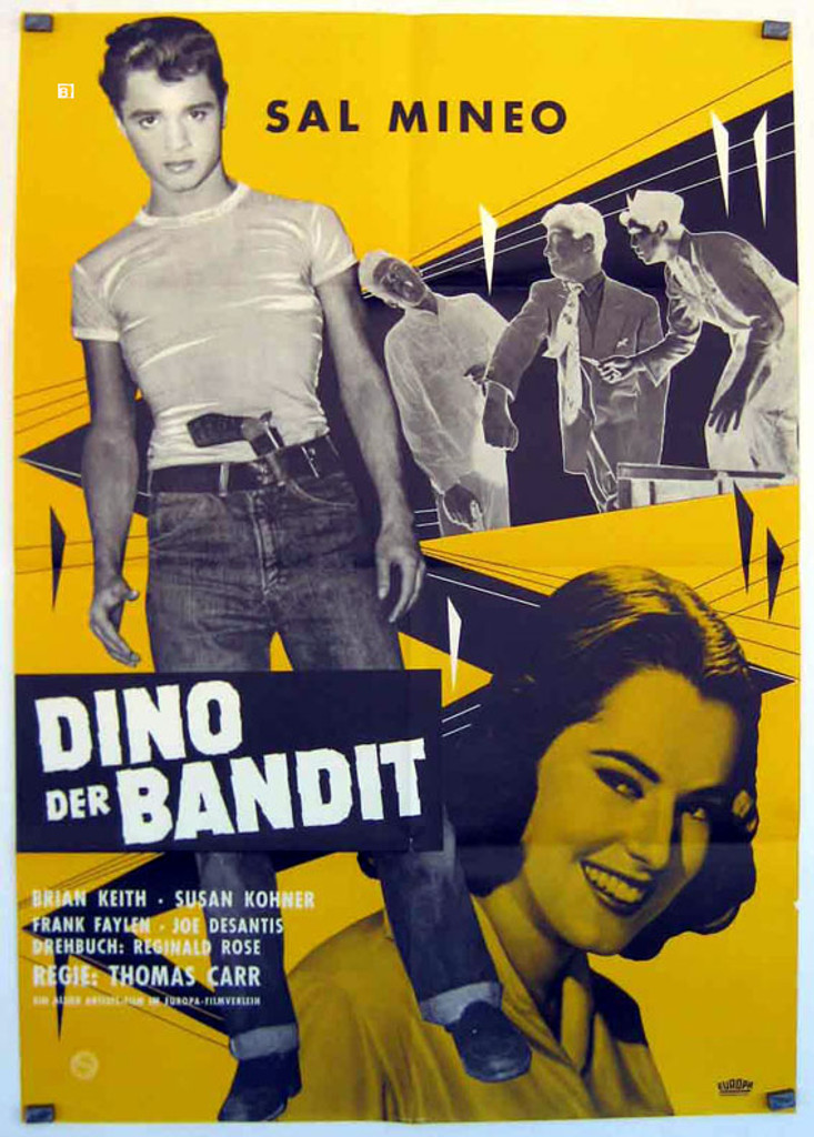 """Don't forget to check out Sal Mineo in """"The Young Don't cry"""" ANOTHER movie where he plays a juvenile delinquent!"""