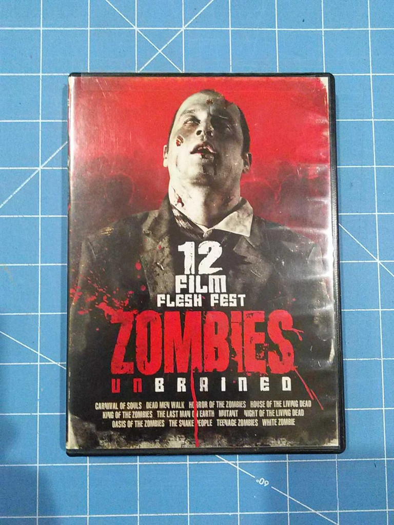 12 Film Flesh Fest Zombies Unbrained - DVD