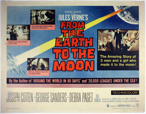 from earth to the moon 1958 Starring Joseph Cotton