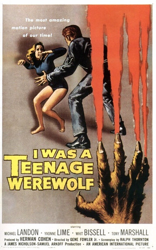 I WAS A TEENAGE WEREWOLF DVD starring Michael Landon in his first movie from 1957!