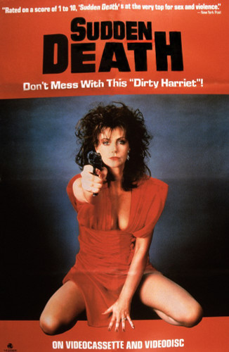 Sudden Death DVD Starring Denise Coward from 1985, original uncut Vestron video