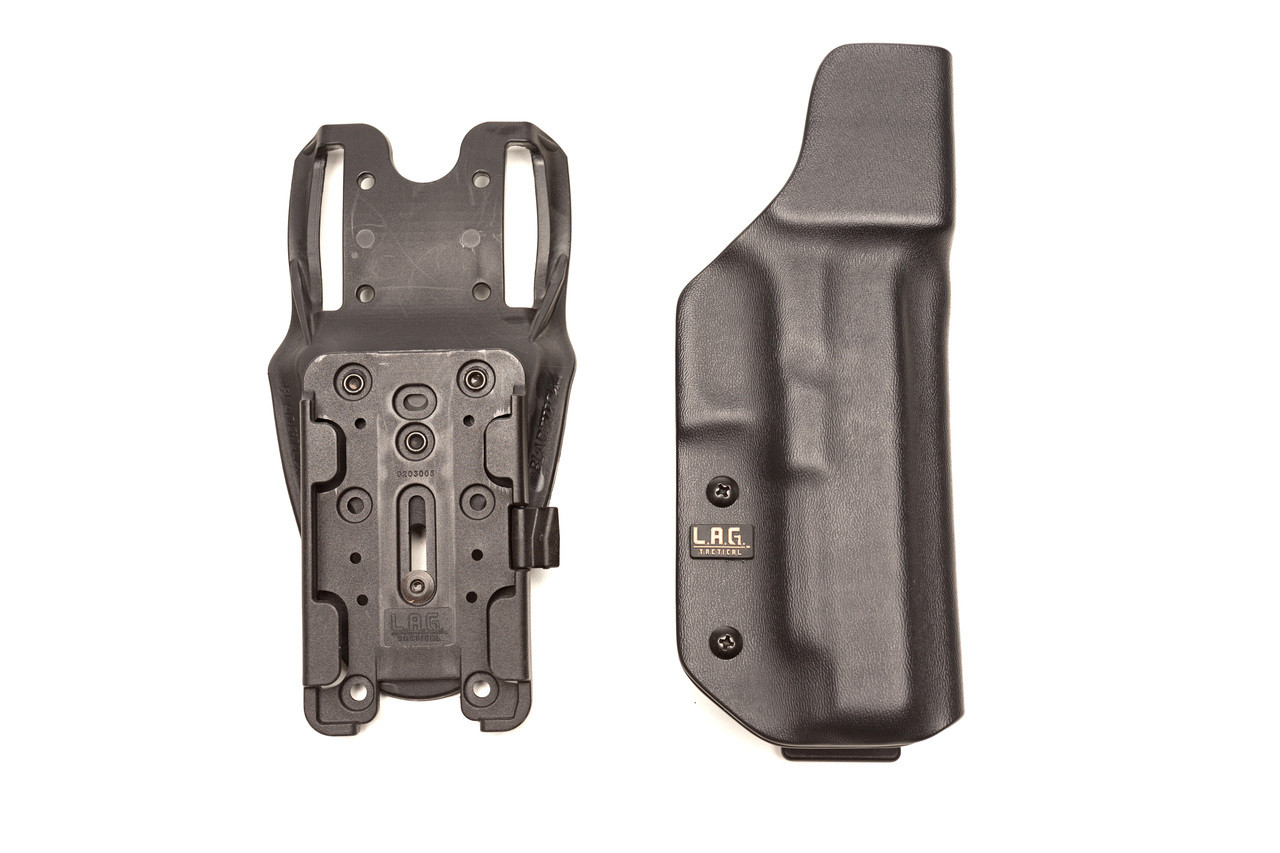 'Nova as seen with Bladetech's DD/OS G2 and Large TMMS giving the shooter the ability to quickly detach the holster and swap out for another.