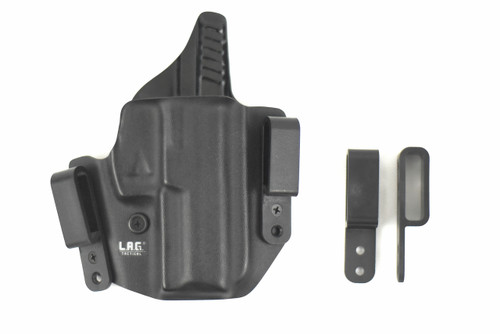 The Defender is the premier Dual-Purpose holster. Inside and Outside the Waistband attachments can be exchanged in seconds.