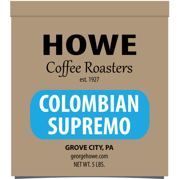 Colombian Supremo Whole Bean 5 lb. bag