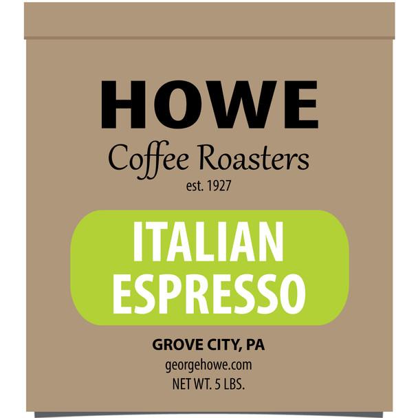 Italian Espresso Whole Bean 5 lb. bag