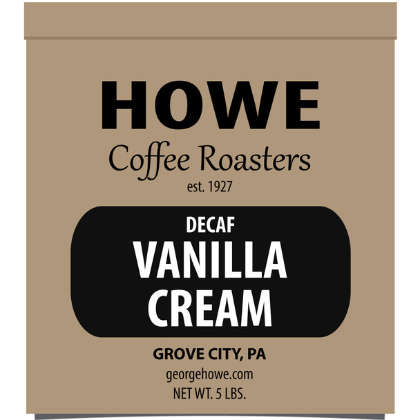 Decaf Vanilla Cream Whole Bean 5 lb. bag