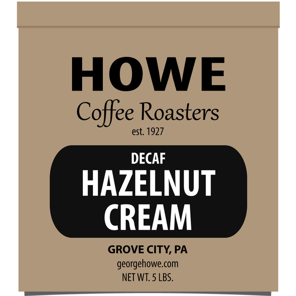 Decaf Hazelnut Cream Whole Bean 5 lb. bag