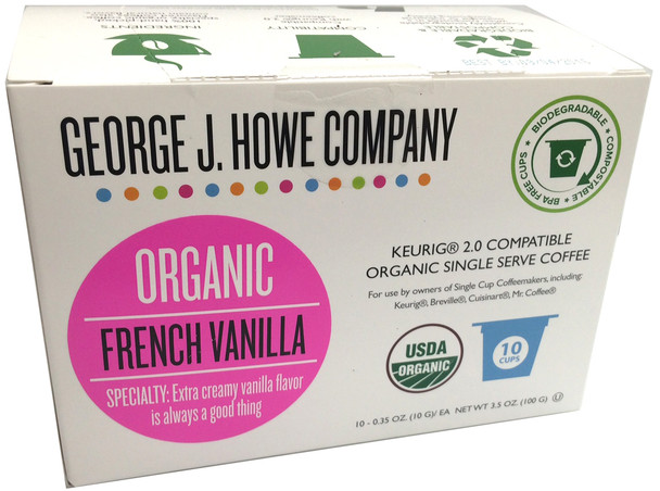 French Vanilla Organic Single Serve Cups - 10 ct.