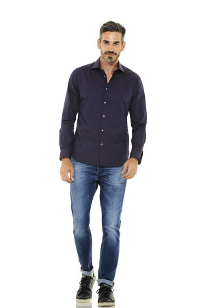Classic Style Traditional Fit Shirt with Pinpoint Print