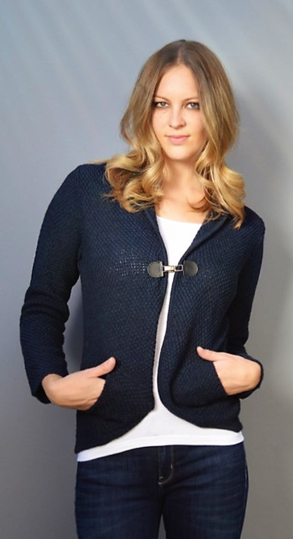 Sweater with Buckle Enclosure and Pockets (Available in 2 Colors)