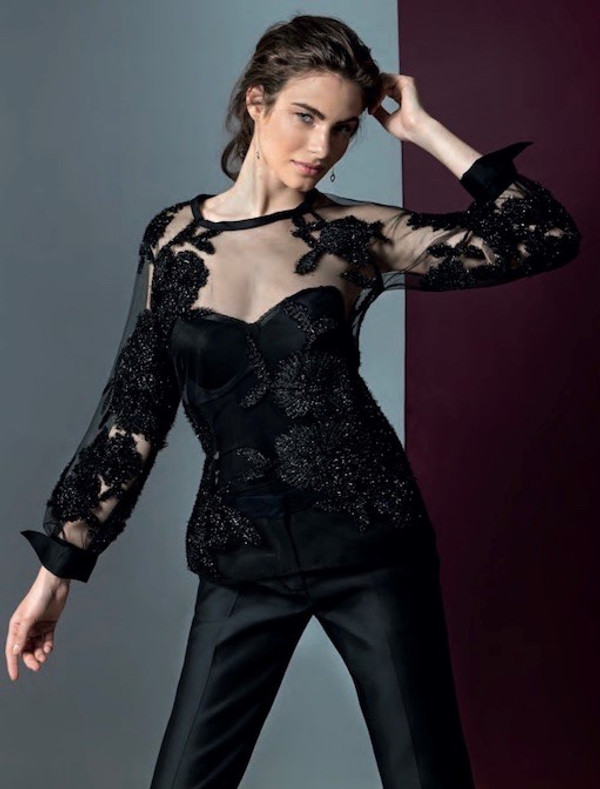 Embroidery Blouse with Sequins