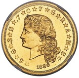 NGC J-1658 GILT PF-62 $4 Stella Gold Coin