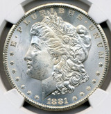 NGC 1881-CC MS-63 Morgan Dollar