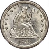 NGC 1858-O MS-65 Sitting Liberty Quarter