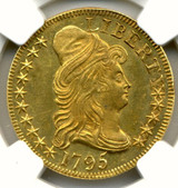 NGC 1795 (Small Eagle) MS-61+  $5 Gold Coin