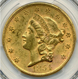 PCGS 1854 MS-61 Large Date $20 Liberty