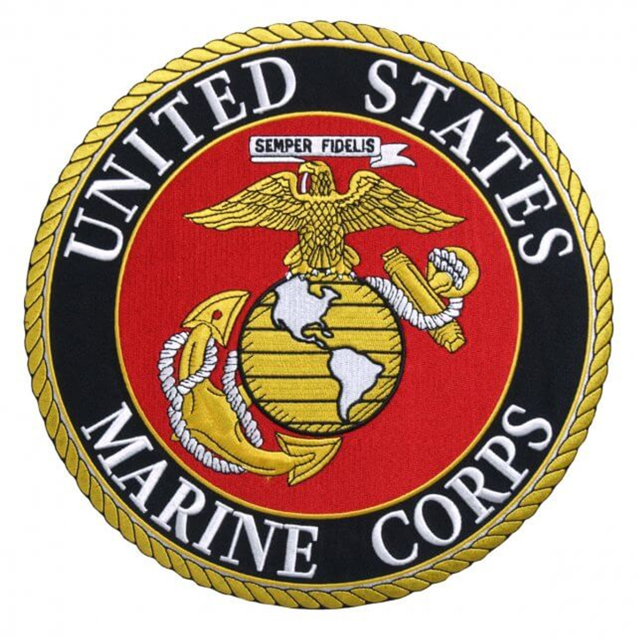 """5th MARINE CORPS DIVISION IRON-ON NEW 3/"""" MILITARY EMBROIDERED PATCH"""