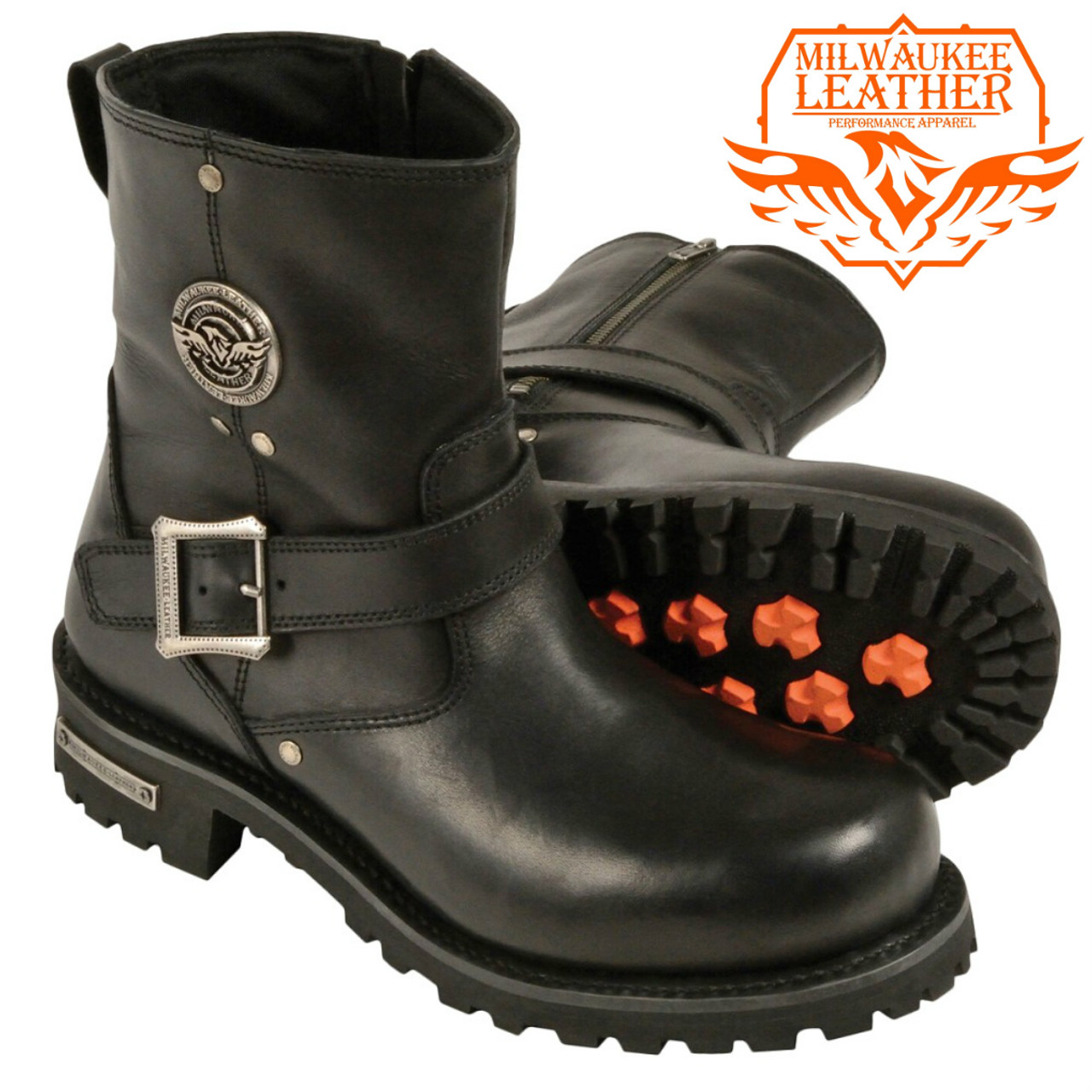 MEN'S MOTORCYCLE RIDING BOOTS, CLASSIC