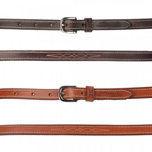 Harmohn Kraft Fancy Stitched Flat Belt- 5/8 Inch Wide