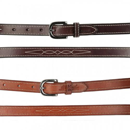 Harmohn Kraft Fancy Stitched Flat Belt- 3/4 Inch Wide